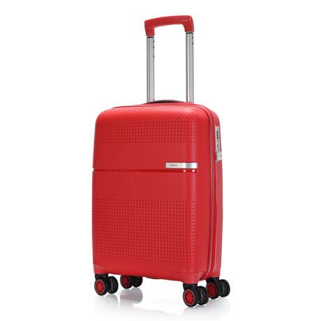 """Bontour """"Cruise"""" 4 Kerekes Kabinbőrönd 55x38x20 Cm Piros / Erős & Rugalmas Anyagból"""