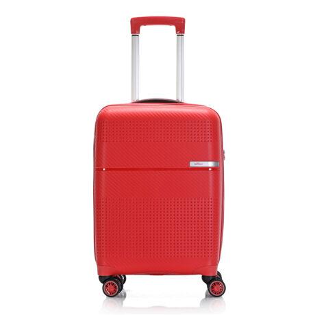 """Bontour """"Cruise"""" 4 Kerekes Kabinbőrönd 55x40x20 Cm Piros / Törhetetlen Rugalmas Anyagból"""
