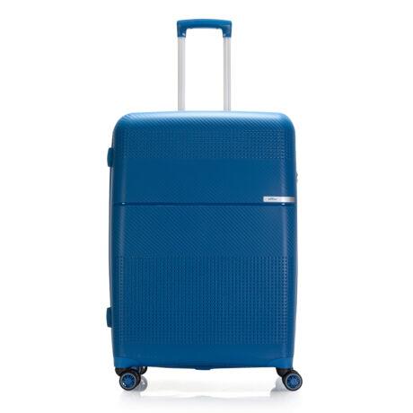 """Bontour """"Cruise"""" 4 Kerekes Bőrönd 77 Cm Kék / Törhetetlen Rugalmas Anyagbó"""