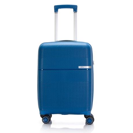 """Bontour """"Cruise"""" 4 Kerekes Kabinbőrönd 55x40x20 Cm Kék / Törhetetlen Rugalmas Anyagból"""
