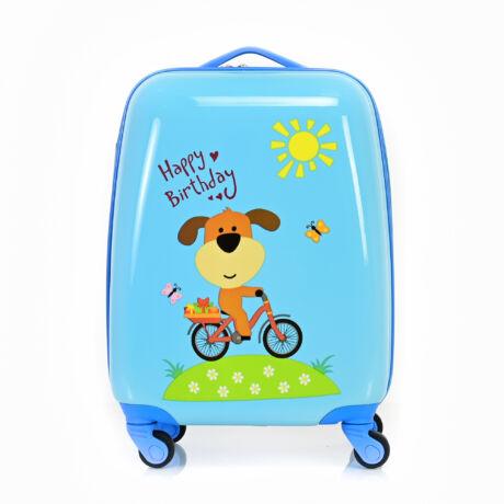 BONTOUR Gurulós Gyerek Bőrönd Kis Kutya mintával