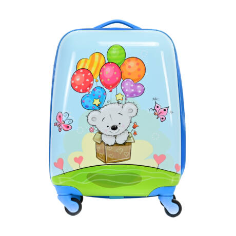 BONTOUR Gurulós Gyerek Bőrönd Kis Medve mintával