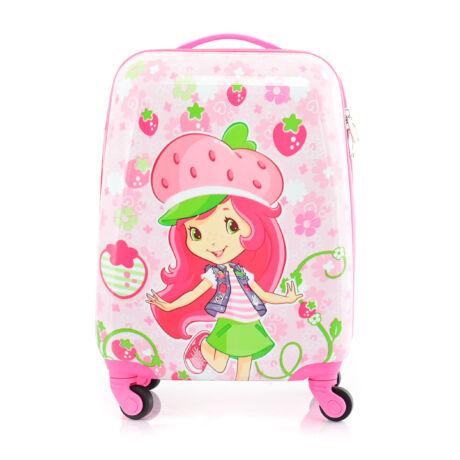 BONTOUR Gurulós Gyerek Bőrönd szamóca mintával