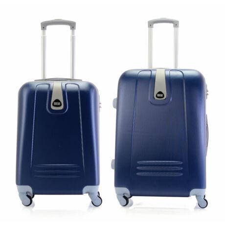 2 DB-os Kemény Bőrönd Szett(S+M) Kék