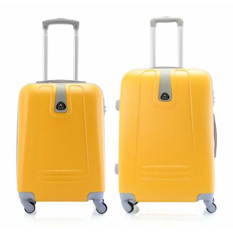 2 DB-os Kemény Bőrönd Szett(S+M) Sárga