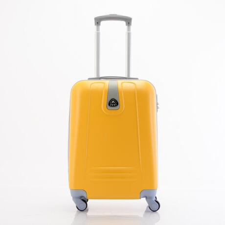 4 Kerekes Merev Falú Kabinbőrönd 55x38x20 cm sárga szín