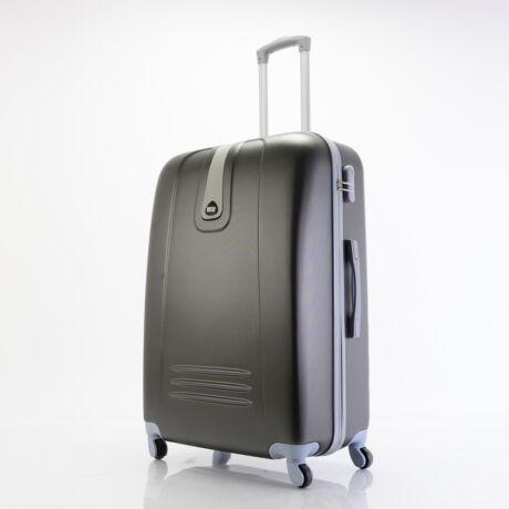 4 Kerekes Merev Falú Bőrönd Fekete Nagy 75x51x28cm