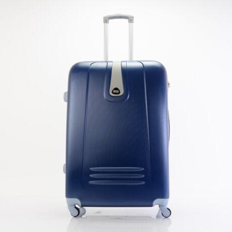 4 Kerekes Merev Falú Bőrönd Kék Nagy 75x51x28cm
