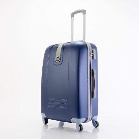 4 Kerekes Merev Falú közepes Bőrönd Kék 66x45x25 cm