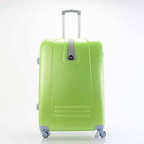 4 Kerekes Merev Falú Bőrönd Zöld Nagy 75x51x28cm