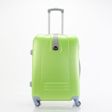4 Kerekes Merev Falú közepes Bőrönd Zöld 66x45x25 cm