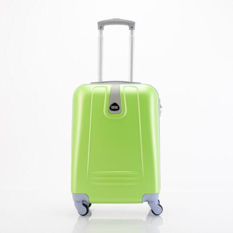 4 Kerekes Merev Falú Kabinbőrönd 55x38x20 cm Zöld
