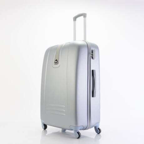 4 Kerekes Merev Falú Bőrönd Ezüst Nagy 75x51x28cm