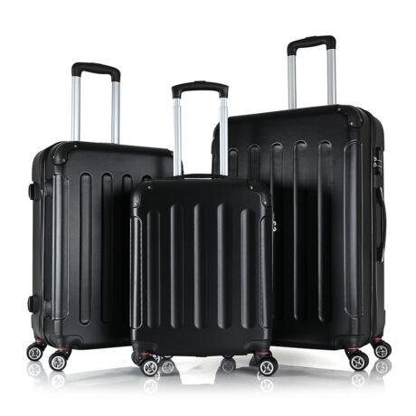 Bontour Basic kemény bőrönd szett 195-3# Fekete