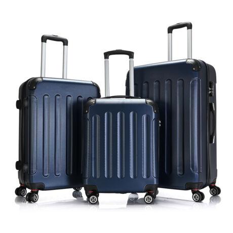 Bontour Basic kemény bőrönd szett 195-3# Kék