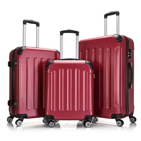 Bontour Basic kemény bőrönd szett 195-3# Bordó