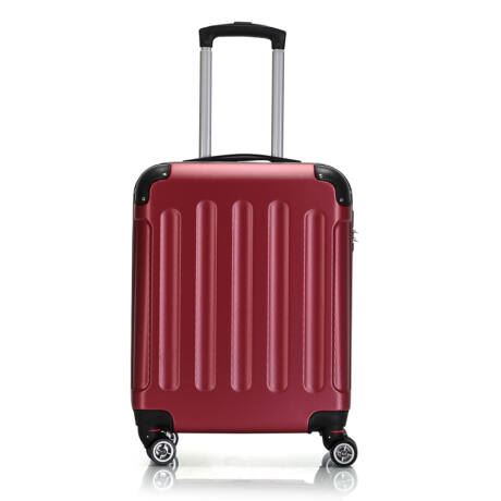 Bontour Basic kemény kabinbőrönd 55x40x20cm 195-S# Bordó