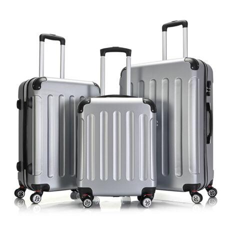 Bontour Basic kemény bőrönd szett 195-3# Ezüst