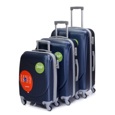Kemény Falú Ultra Light 3 db-os Bőrönd Szett Kék