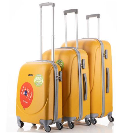 Ultra Light 3 db-os Bőrönd Szett Sárga