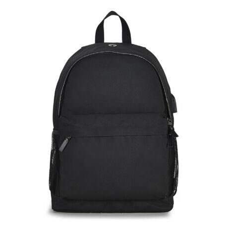 Bontour 210501 15.6'' USB-s laptop hátizsák fekete