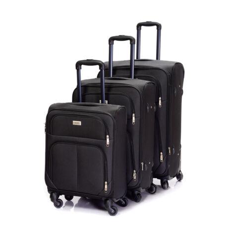 Bontour Basic Puha Bőrönd Szett  Fekete 214#