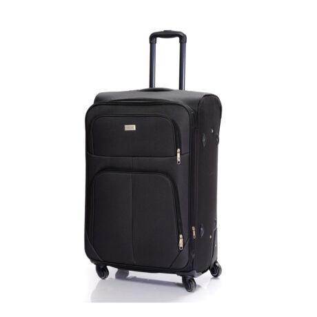 Bontour Basic Nagy Bővíthető Puha Bőrönd Fekete 214#