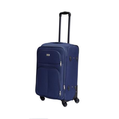 Bontour Basic Puha Bővíthető Bőrönd 66cm 214-M# Kék