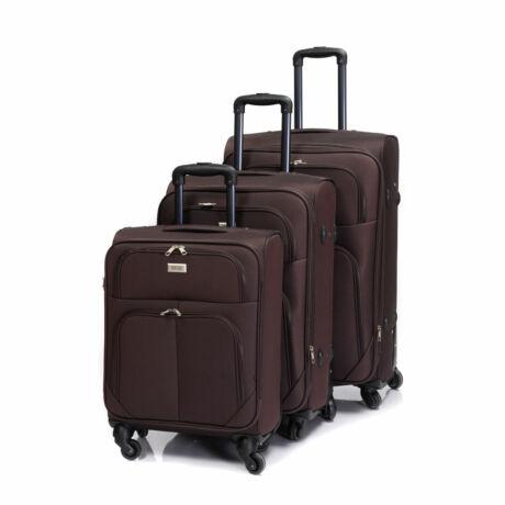 Bontour Basic Puha Bőrönd Szett Barna 214#