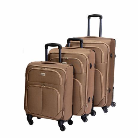 Bontour Basic Puha Bőrönd Szett Világos Barna