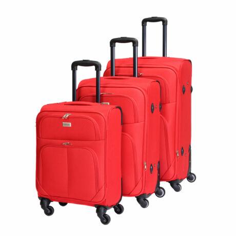Bontour Basic Puha Bőrönd Szett Piros