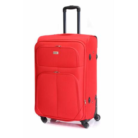 Bontour Basic Nagy Bővíthető Puha Bőrönd Piros 214#