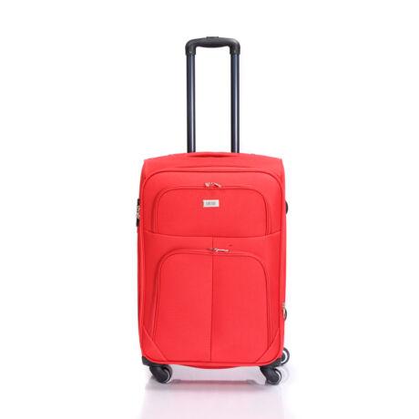 Bontour Basic Puha Bővíthető Bőrönd 66cm 214-M# Piros
