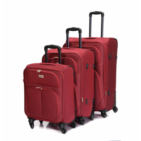 Bontour Basic Puha Bőrönd Szett  Bordó 214#