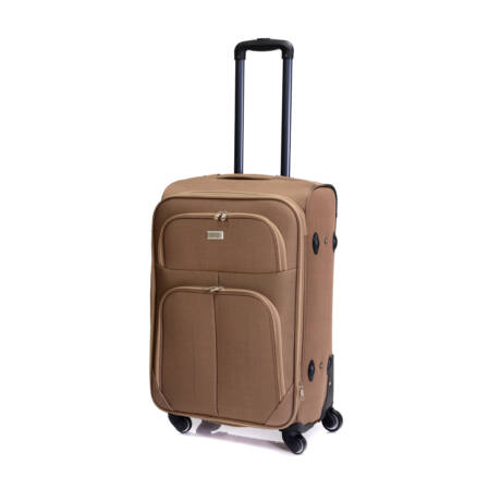 Bontour Basic Puha Bővíthető Bőrönd 66cm 214-M# Világosbarna