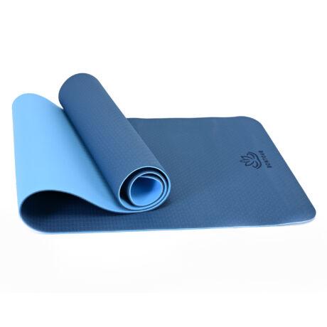 Bontour BALANCE TPE Környezetbarát Jógaszőnyeg 6mm Kék / Világoskék, Csúszásmentes Edzőszőnyeg