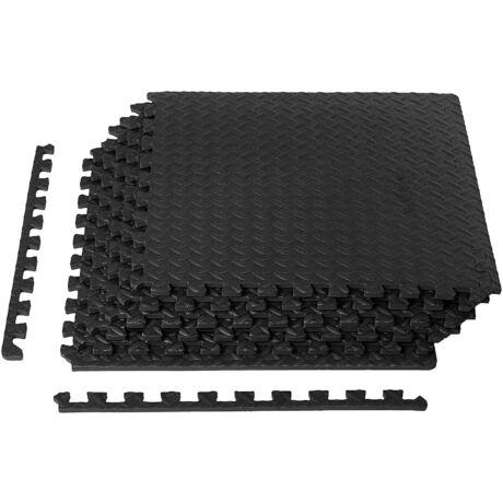 Bontour Fitness gép alátét szőnyeg, Padlóvédő puzzle, 6db-os szett (2,2 m²)