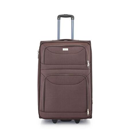 BONTOUR 2 kerekű Basic bőrönd  Bővíthető 72 x 48 x 33/36cm Barna