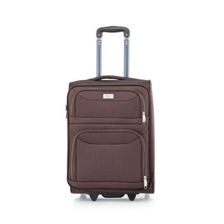 Ryanair/WizzAir Kabin Bőrönd (2 KERÉKÜ) 55x39x20cm Barna