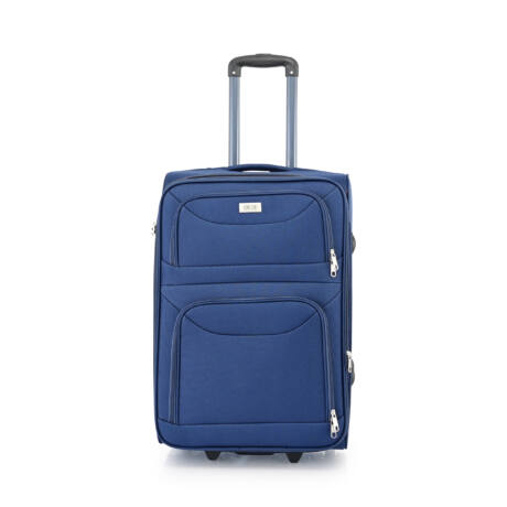 BONTOUR 2 kerekű Basic bőrönd Bővíthető 64x42x28/31cm Kék