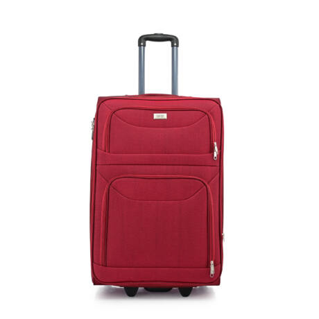BONTOUR 2 kerekű Basic bőrönd Bővíthető 72x48x33/36cm Bordó