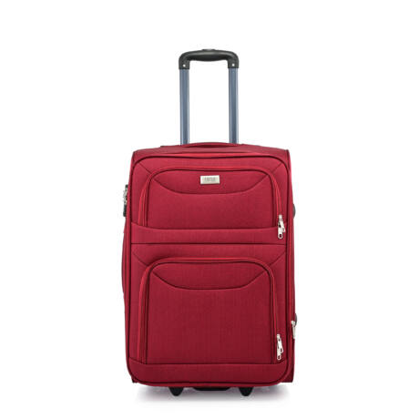 BONTOUR 2 kerekű Basic bőrönd Bővíthető 64x42x28/31cm Bordó