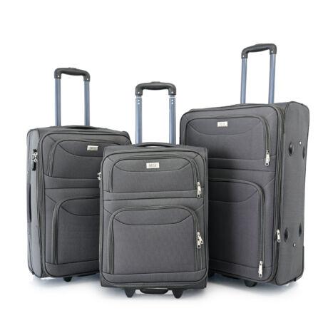 BONTOUR 3 db-os Basic bőrönd szett 2 kerekű Szürke