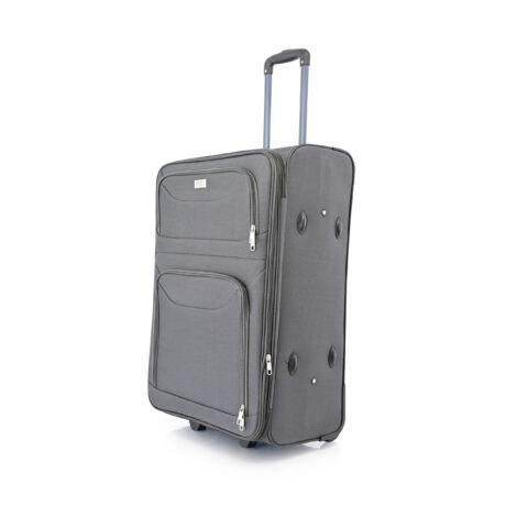 BONTOUR 2 kerekű Basic bőrönd Bővíthető 72x48x33/36cm Szürke