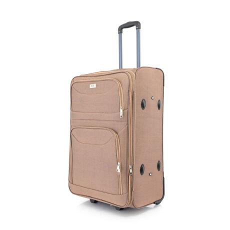 BONTOUR 2 kerekű Basic bőrönd Bővíthető 72x48x33/36cm Világos Barna