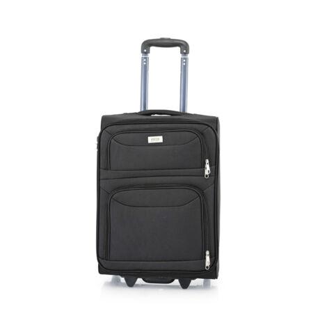 Ryanair/WizzAir Kabin Bőrönd (2 KERÉKÜ)  55x39x20cm Fekete
