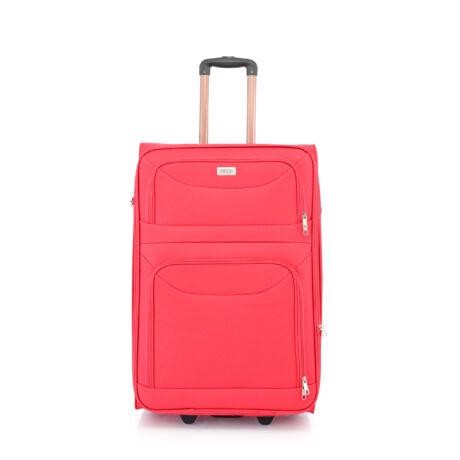 BONTOUR 2 kerekű Basic bőrönd Bővíthető 72x48x33/36cm Piros