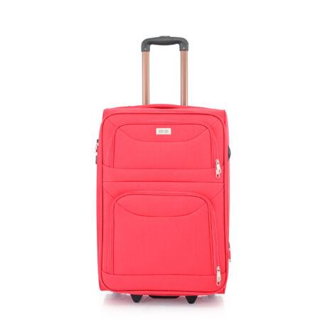 BONTOUR 2 kerekű Basic bőrönd Bővíthető 64x42x28/31cm Piros