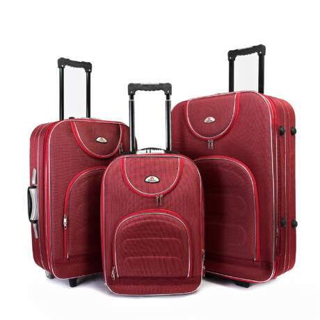 3 db-os bőrönd szett Bordó