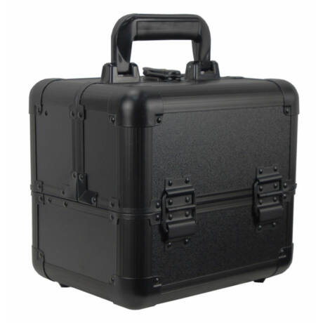 Kozmetikai táska / Smink Doboz, Fekete, 25x22x18,6cm